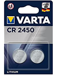 Varta CR2450 - Pack de 2 pilas (Litio, 3V, 560 mAh)