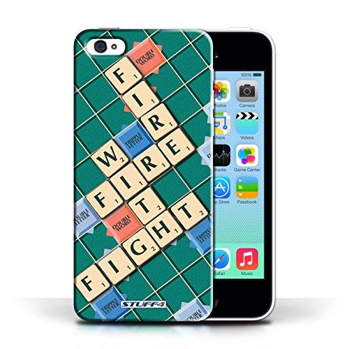 Kobalt® Imprimé Etui / Coque pour Apple iPhone 5C / Celui Qui Ose conception / Série Mots de Scrabble Lutte Incendie