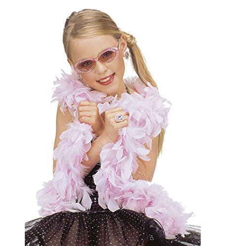 * FEDER-BOA IN ROSÉ * als Accessoire für Karneval oder Motto-Party // mit Federn in rosé und glitzernden Strähnen // Geburtstag Kindergeburtstag Fasching Verkleidung Kostüm Motto Party Mottoparty Prinzessin VIP Hollywood Feather Schlange Glamour