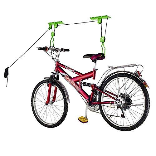 Bike Lane Produkte Fahrrad Aufbewahrung Lift Bike Hoist 45kg Kapazität Heavy Duty 2Pack, grün (Kajak-boden Rack)