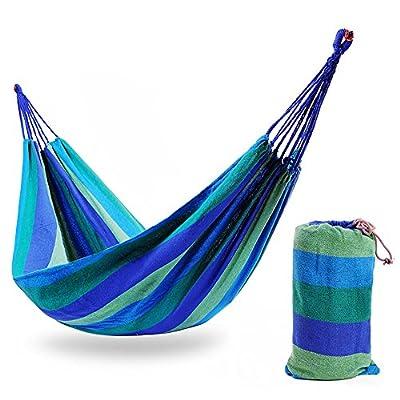 DS Hängematte Stripe Hängematte Outdoor 1 Personen Tragbare Camping Tourismus 200 × 80 cm 4 Farbe Optional ** von Dong Sheng shop - Gartenmöbel von Du und Dein Garten