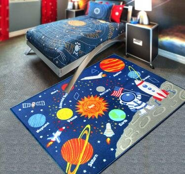 ZXDG-kids childrens planet solar system rugs carpets for children's room - low-cost UK light store.