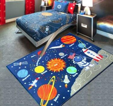 Zxdg-kids, tappeti per la cameretta dei bambini con design pianeti del sistema solare