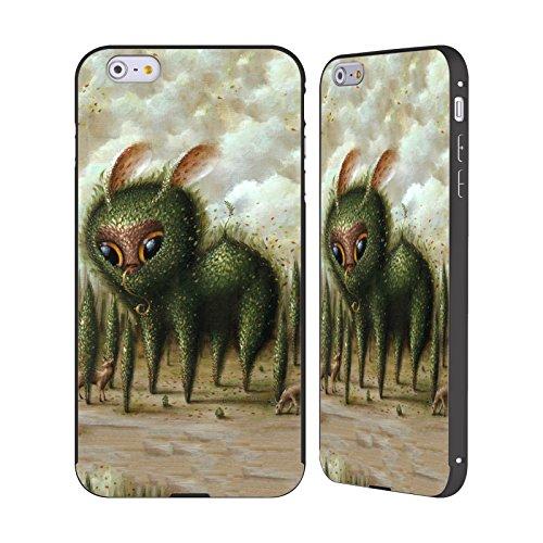 Ufficiale Jason Limon Pausa Pipì Alieni Nero Cover Contorno con Bumper in Alluminio per Apple iPhone 6 Plus / 6s Plus Tra Gli Alberi