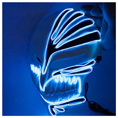Kostüm Halloween Daft Punk - Maske Tod COS verkleiden Sich Anime Cosplay Requisiten Ghost Dance Schritte LED-Maske für Festival, Party, Halloween, Karneval, Cosplay DJ-Maske,Blue-OneSize