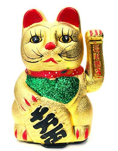 FISH IN THE SEA Details zu Original Japan Glückskatze Winkekatze 22cm Large Keramik Glück & Liebe & Reichtum