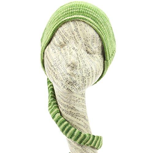 LOUDelephant 'Tinky Winky'Tricot Coton Space Dye tail Bonnet - Green Space Dye