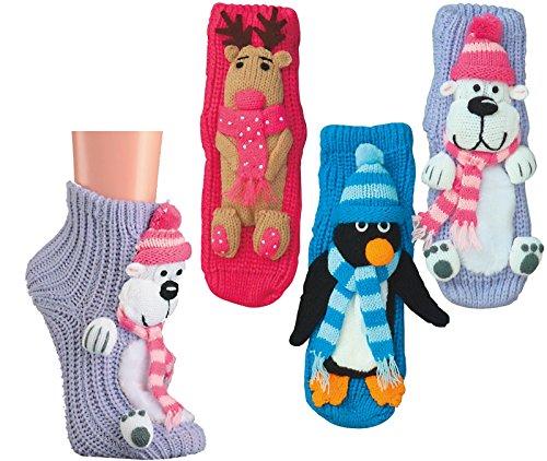 SOCKS PUR HOMESOCKS LUSTIGE TIERE 'MIT ABS' (39/42, 2249: HOMESOCKS Pinguin 1 PAAR)