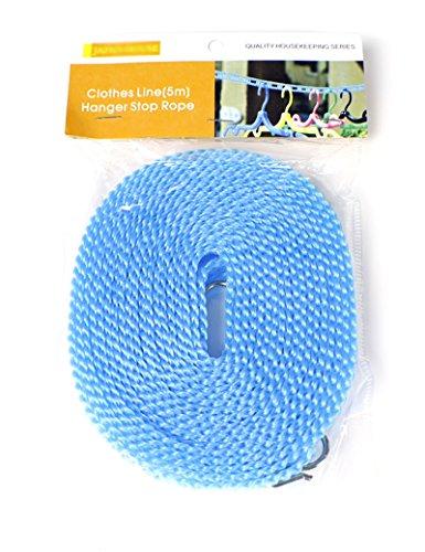 cinque metri plastica Antiscivolo A prova di vento Facile viaggiare Clothesline Per interni ed esterni (Piegare I Vestiti Rack)