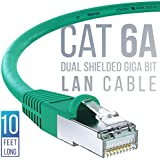 iVoltaa Ethernet Cable CAT6A Cable Dual Shielded (SF/UTP) Professional Series - 10Gigabit/Sec LAN Network/High Speed Internet Cable, 550MHZ 10 Feet (3M)