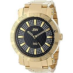 "Just Bling Herren JB-6225-C Städtische Sammlung ""562"" Pave Dial 18K vergoldeten Diamond Watch"