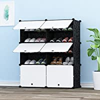 JOISCOPE PREMAG Portable Shoe Storage Organizer Tower, Modular Cabinet Shelving for Space Saving, Shoe Rack Shelves for shoes, boots, Slippers (2 * 5-tier)