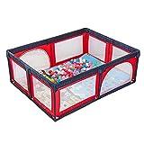 Box Grande Bambini Gioca a Yard con Tappetino e 100 Palle, Baby Box a 8 Pannelli Dentro Fuori Anti-Caduta Gioca a Penna, 150x190x70cm (Colore : Red+Blue)
