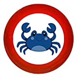 Kindermöbelknopf Möbelknauf Möbelknopf Möbelgriff Möbelknauf Jungen hellblau dunkelblau blau Massivholz Buche - Kinder Krabbe blau Meerestiere maritim - rot