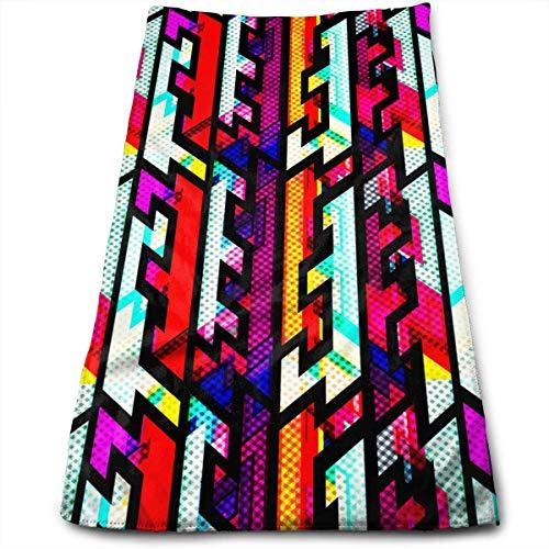 QuGujun Bath Sheet Towels Bright Geometric Grunge Effect Super Soft Absorbent Sports/Beach/Shower/Pool Towel (Tan Geschirrtücher)