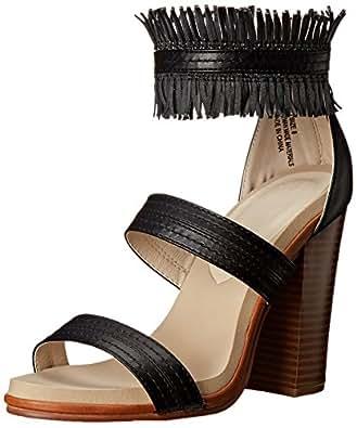 Groove Women's Ali Dress Sandal, Black, 7.5 M US