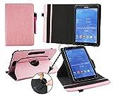 Emartbuy® Blaupunkt Polaris QC Tablet 7.85 Zoll Universal (7-8 Zoll) Baby Rosa PrämiePULeder360GradrotierendeStandFolioGeldbörseTascheHülle + Rosa Eingabestift