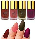 #6: MI Fashion Matte Nail Polish Pack of 4(9.9 Ml Each)