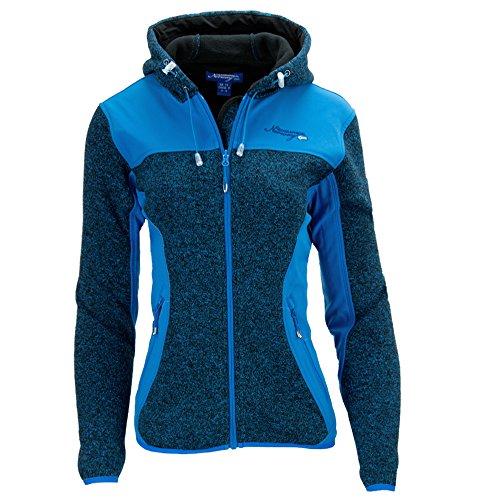 Geographical Norway Damen Strickfleece Jacke Fleecejacke Pullover Softshell Gr 38 L blau