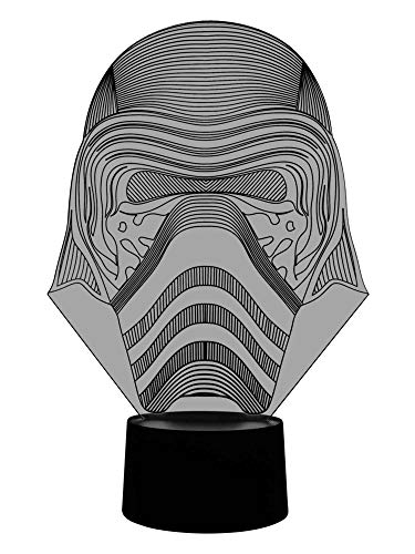 originalelle 3d LED lamp kylo Ren Design night table lamp as Wohnlicht in the living room