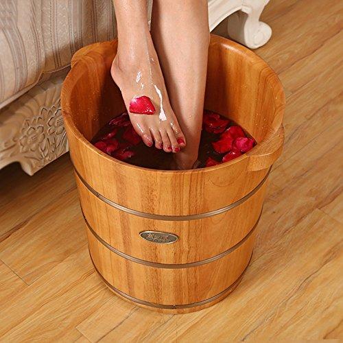 Massage Spa Barils à pieds Barils de chêne Baignoire en bois Pied Baignoire à pied Hauteur du baril Non recouvert de barriques (38 * 40 * 32cm) Massagiste à rouleaux