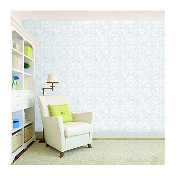 100Yellow? White Tile Pattern Self Adhesive Peel And Stick Waterproof Hd Wallpaper (Pvc Vinyl, 10.66 X 12 Ft, Multicolour)