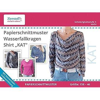 Amazon.de: Schnittmuster auf Papier für ein Shirt mit ...