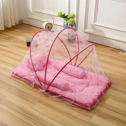 Krippe Faltbare Krippe Tragbare Krippe Sichere Krippe Mehrfarbige Krippe Reisebett , pink (Pferd Neugeborene Krippe)