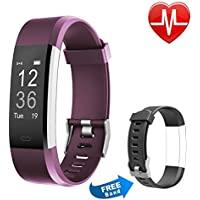 Letsfit Fitness Tracker HR, Activity Tracker Watch with Heart Rate Monitor, IP67 Waterproof Smart Bracelet as Calorie Counter Pedometer Watch for Android and iOS