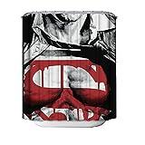 JY ART Duschvorhang Anti Schimmel Wasserdicht Duschvorhänge 3D Badvorhänge Duschvorhang 180x180 cm mit 12 Ringe - Schwarzer/Mann BK066, Shower Curtain, 180*180cm