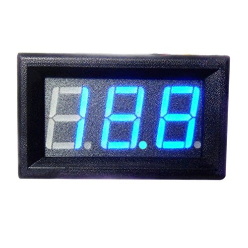 Balai DC 0-30V LED 3-Digital Display Voltmeter Panel Tegangan Motor for Solar Projects/ Battery Voltage Monitor -