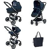 Foppapedretti - Trio de silla de paseo, capazo y silla de auto  SuperTres, azul