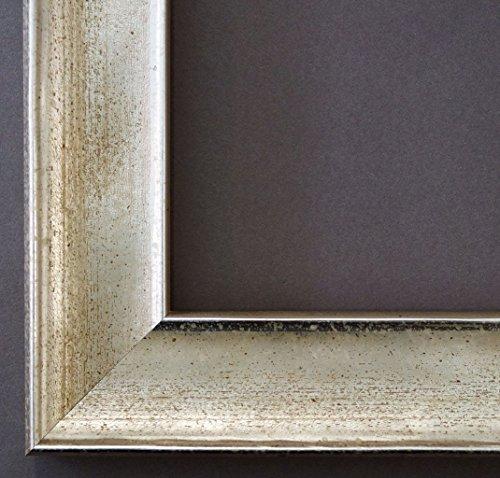 Bilderrahmen Matera Silber 3,9 - Über 14000 Größen - 8 x 12 cm - mit Normalglas - Maßanfertigung ohne Aufpreis (8x12 Bilderrahmen Holz)