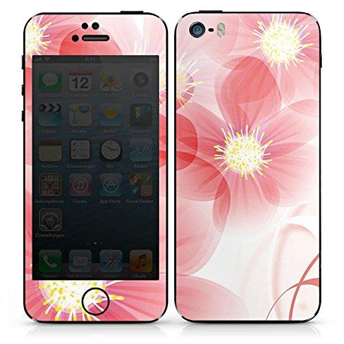 Apple iPhone 4s Case Skin Sticker aus Vinyl-Folie Aufkleber Blume Blüte Blatt DesignSkins® glänzend