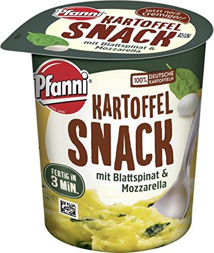 Pfanni Kartoffel Snack Kartoffelpüree mit Blattspinat & Mozzarella 1 Portion 8er Pack