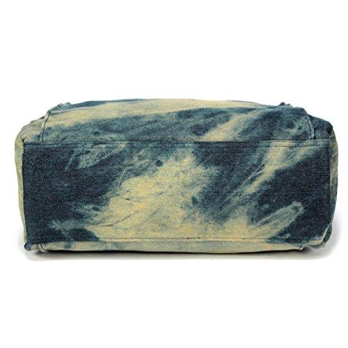 Chang Spent Borsa moda denim tela spalla messenger bag borsa delle donne (colore facoltativo) , a Blue