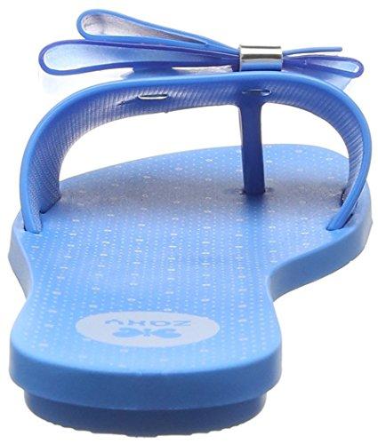 Zaxy Life Slide, Sandales Plateforme femme Bleu - Bleu (Bleu)