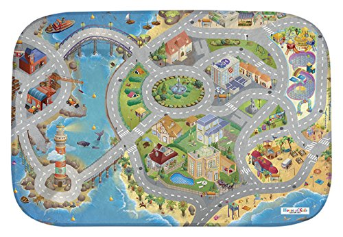 *ACHOKA 86031-E3 – Playmat Ultra Soft Bord De Mer Connect, 130 x 180 cm*