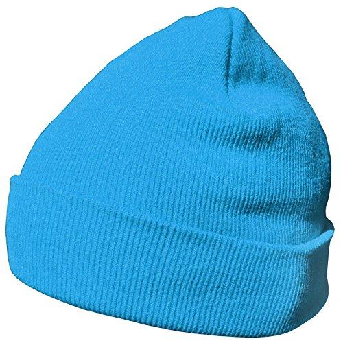 DonDon Wintermütze Mütze warm klassisches Design modern und weich hellblau