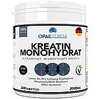 Creatin Monohydrat Tabletten | Ultrareine mikronisierte Kreatin Tabletten | Wissenschaftlich bewiesene Verbesserung... preisvergleich bei fajdalomcsillapitas.eu