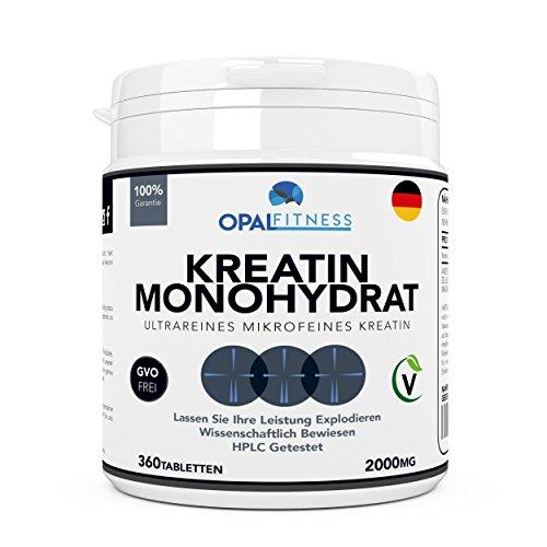 Creatin Monohydrat Tabletten | Ultrareine mikronisierte Kreatin Tabletten | Wissenschaftlich bewiesene Verbesserung von Kraft, Leistung und Muskelmasse | HPLC getestete Kreatintabletten | OSHUNsport | Einführungsangebot
