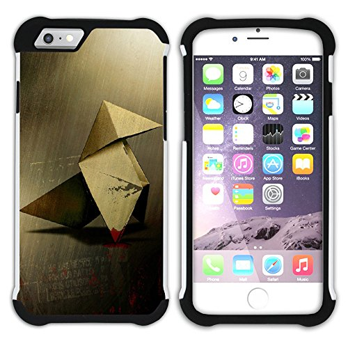 Graphic4You Papierflieger Hart + Weiche Kratzfeste Hülle Case Schale Tasche Schutzhülle für Apple iPhone 6 / 6S Design #4