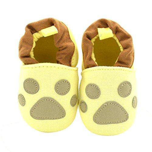 FEITONG Baby Mädchen Jungen beschuht Turnschuh Anti-Rutsch weiches Sohle Herbst Kleinkind (0 ~ 6 Monate, Rot) Gelb