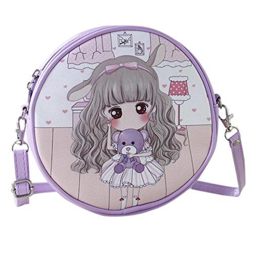 BZLine® Frauen Handtaschen und Cartoon Handtaschen Kids Girls Mini Crossbody Tasche A