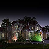 MICTUNING LED Lanscape Light - 2-in-1 Garden Light Starry Projector Speed Adjustable Dynamic Lamp Waterproof Christmas Decoration with Remote Controller(Red&Green)