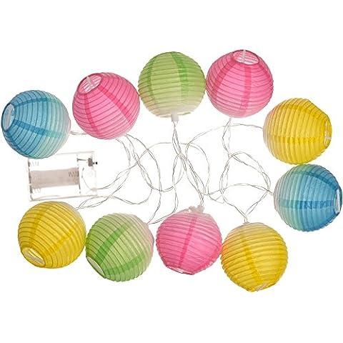 Guirlande lumineuse 10 lampions LED Bahia Multicolore Papier et plastique La chaise longue 36-1J-017
