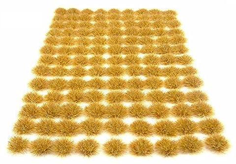 6mm Scrub grass tufts x117 Self-adhesive static model - Warpainter