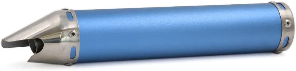 sourcingmap Alliage aluminium bleu Style Bouche Requin tuyau /échappement moto sortie 280mmx60mm