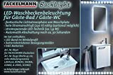 FACKELMANN 86301 Backlight, Aluminium, alu-grau, Single, 1,5 x 45 x 1,5 cm