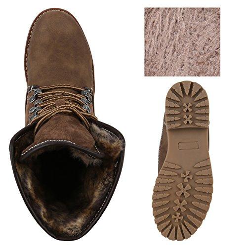 Stiefelparadies Damen Warm Gefütterte Sneakers Sneaker High